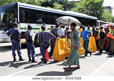 woman with parasol in Pretoria