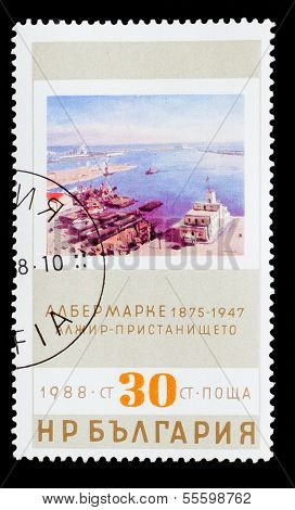 BULGARIA - CIRCA 1988: A stamp printed by BULGARIA, Albert Marqu
