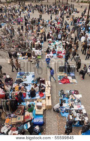 Flea Market At Yoyogi Park In Harajuku, Japan