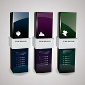 Empty package box mock-up. Vector illustration.?????? poster