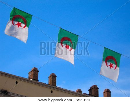 Row  National Flags Of Algeria Country