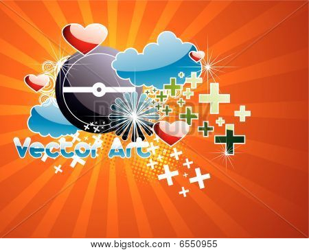 abstract glossy vector