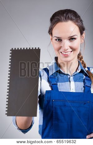 Handywoman With Spatula