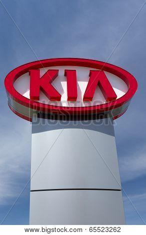 Kia Autombile Dealership Sign