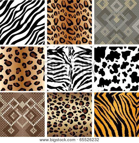Animal Print seamless Tiling patterns