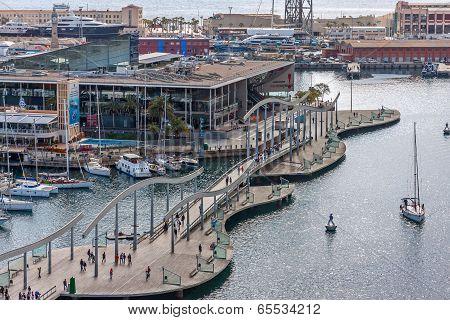 Port Vell  In Barcelona.