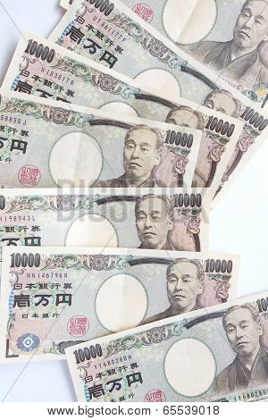 close - up japanese currency or japanese yen
