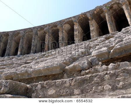 Old Greek Amphitheater Aspendos - Turkey