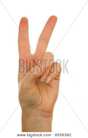 Hand Is Counting Number 2