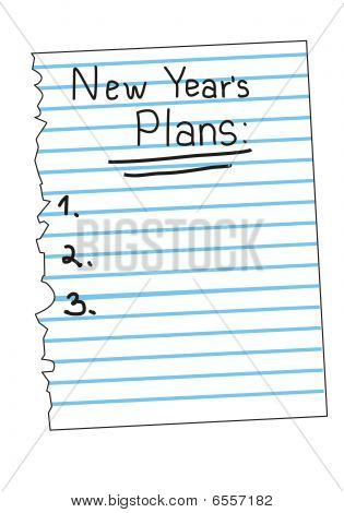Vector New Year's plan List