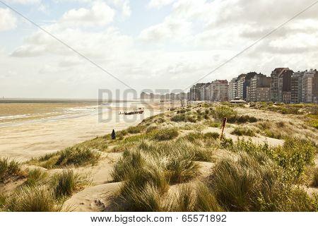 North Sea coast at Knokke-Heist near Zeebrugge, Belgium