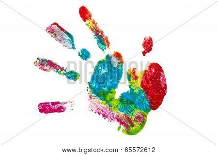 Colorful hand painted isolated