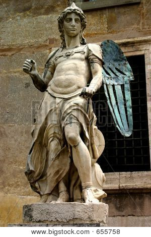 Stone Copper Angel