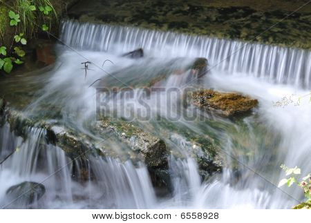 Waterfall in the river