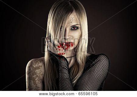 beautiful sexy vampire woman