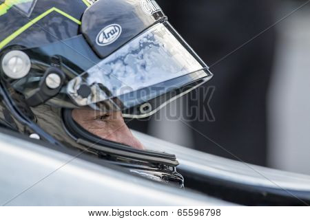 indianapolis, IN - May 17, 2014:  Kurt Busch (26) prepares the Suretone Honda to qualify for the Indianapolis 500 at Indianapolis Motor Speedway in indianapolis, IN.
