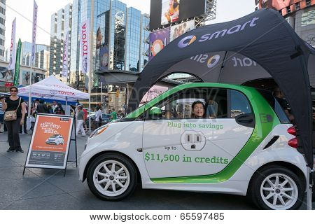Smart Cars Promotional Display In Dundas Square