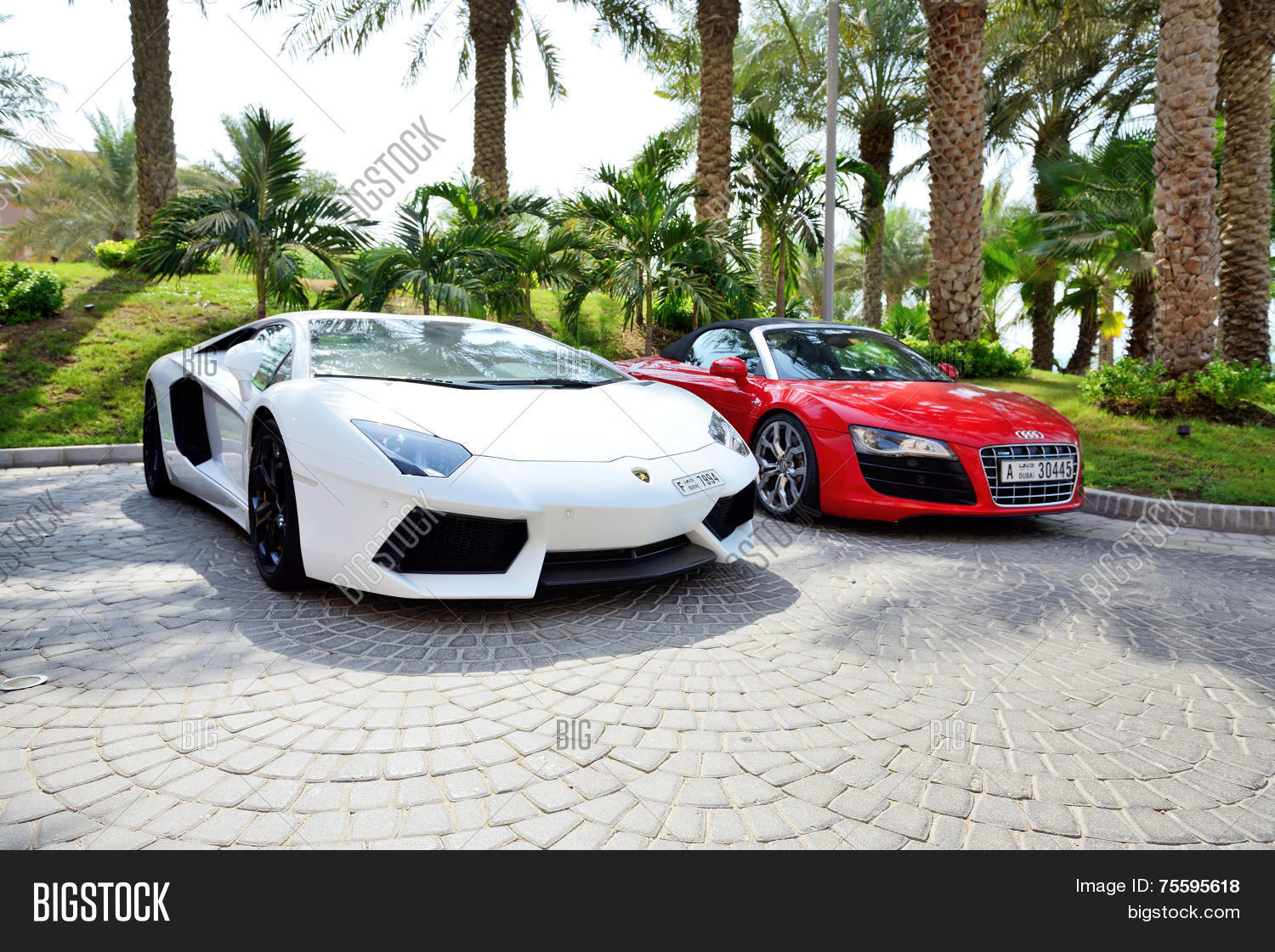 Dubai, Uae   September 11: The Atlantis The Palm Hotel And Luxury Sport Cars
