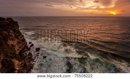 Sunset On The Ocean