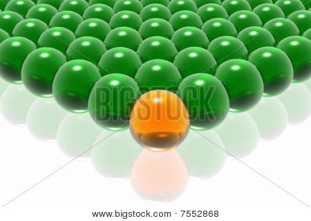 Orange Leader Of Business Team