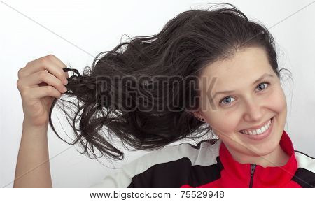Portrait Of A Girl With Tousled Hair