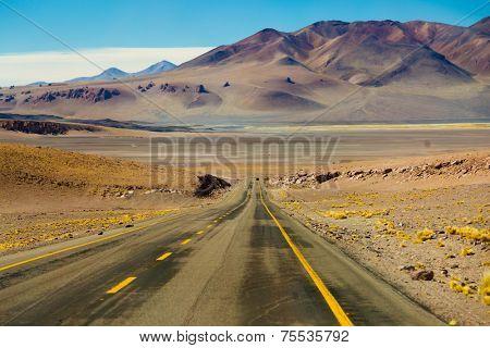 Amazing road in Atacama