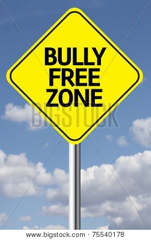 Creative sign with the message - Bully Free Zone