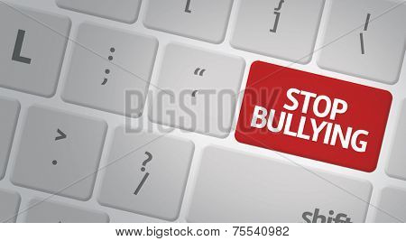 Computer keyboard with word Stop Bullying