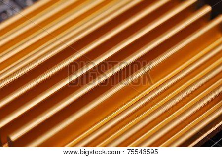 Yellow Chipset Heatsink