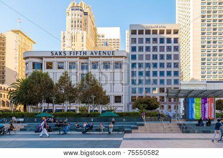 SAN FRANCISCO - SEPTEMBER 27: Union Square in Downtown San Francisco on September 27, 2012 in San Francisco, California.