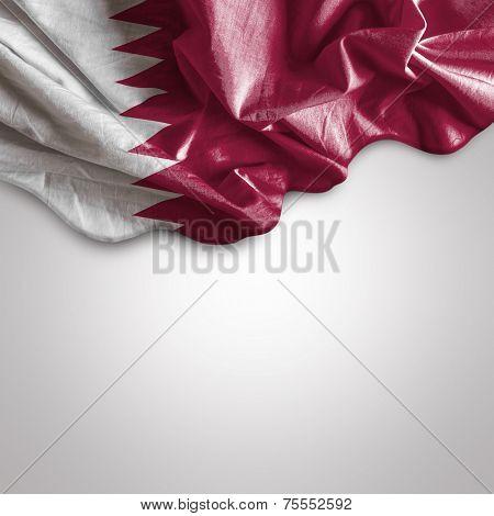 Waving flag of Qatar, Western Asia