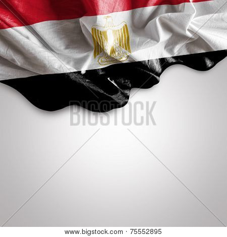Waving flag of Egypt, Africa