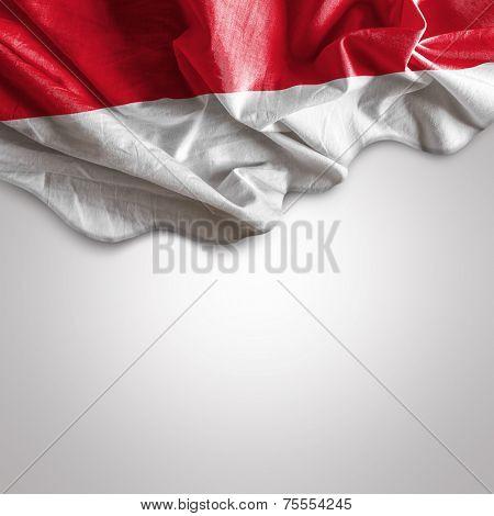 Waving flag of Indonesia, Asia