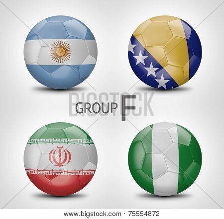 Group F - Argentina, Bosnia and Herzegovina, Iran, Nigeria (Brazil)