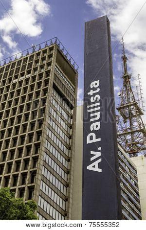 Paulista Avenue in Sao Paulo, Brazil - Latin America
