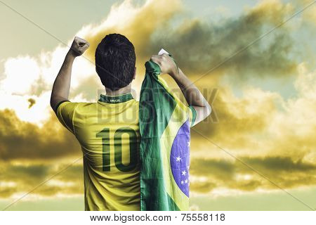 Brazilian fan celebrates on a wonderful day