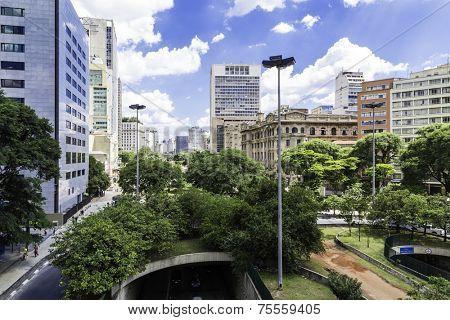 Downtown of Sao Paulo ( Viaduto do Cha ) Brazil - Latin America