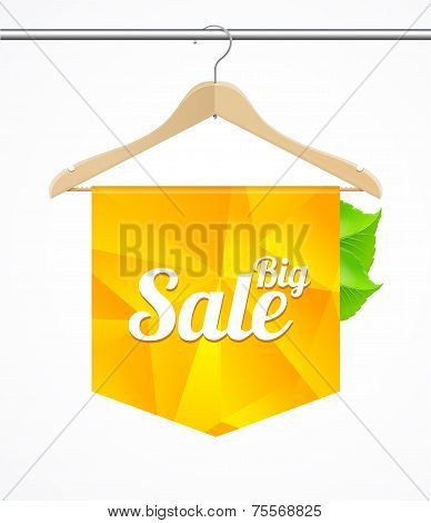 Vector Sale collections template clothes hanger
