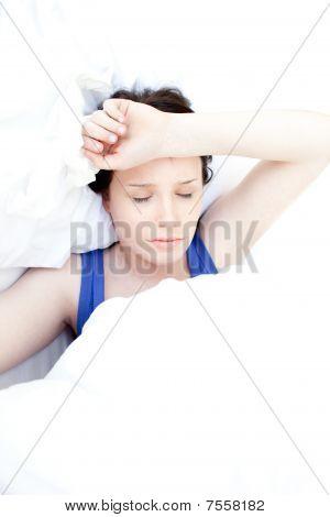 Sick Teen Girl Lying In Her Bed