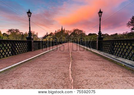 Armstrong Bridge At Sunrise