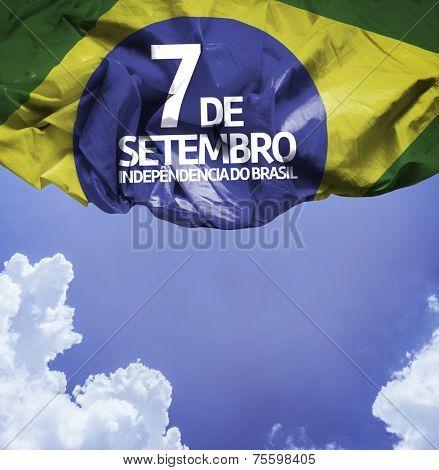 September, 7 Independence of Brazil - Dia 7 de Setembro, Independencia do Brasil on a beautiful day