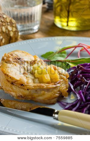 Pork Medallions With Cabbage