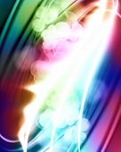 rainbow background with smooth lines in it poster
