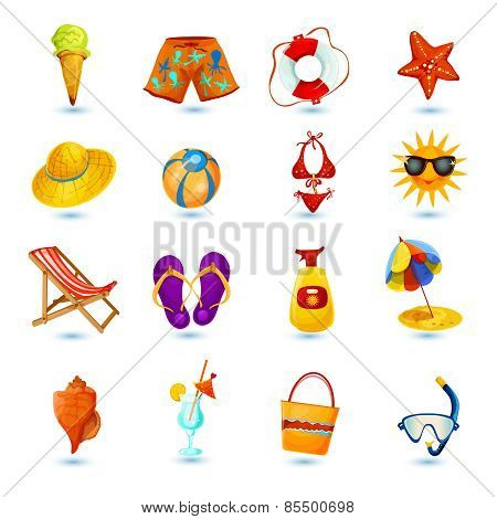 Summer Holidays Icon Set