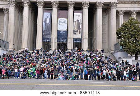 Spectators of the Saint Patrick's Day Parade