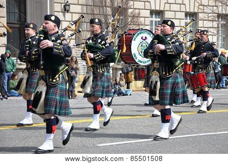 Musicians in the Saint Patrick's Day Parade