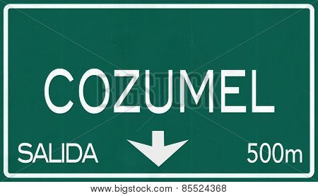 Cozumel Mexico Highway Road Sign