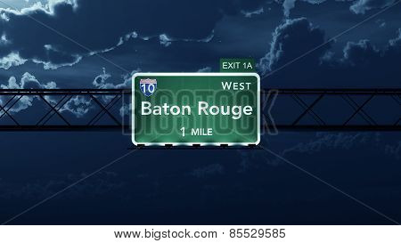 Baton Rouge USA Interstate Highway Road Sign