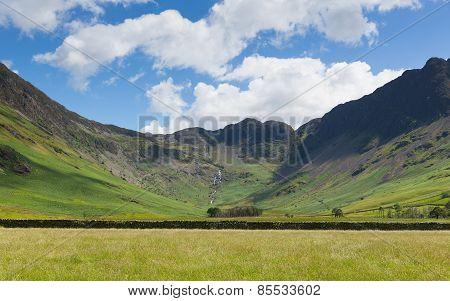 Lake District mountain view from Buttermere of Haystacks and Fleetwood Pike