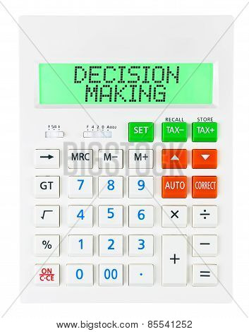Calculator With Decision Making